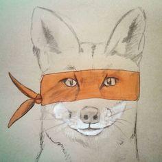 """Gefällt 24 Mal, 1 Kommentare - Miriam Nowak (@monstamia) auf Instagram: """"Karate Fuchs #illustration #iliketodraw #fox #fuchs #orange #drawing #Zeichnung #malwasbuntes…"""""""