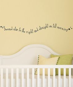 Take a look at this Black 'Second Star to the Right' Wall Decal on zulily today!