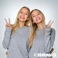 I love Lisa and Lena Cute Girls With Braces, Braces Girls, Bff, Celebrities With Braces, Senior Guys, Girl Tongue, Lisa Or Lena, Softball, Cute Twins