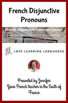 Learn what disjunctive pronouns are in French and the many different ways to use them Learn French Online, French Teacher, Lessons Learned, Online Courses, Language, English, Learning, Spanish, English Language