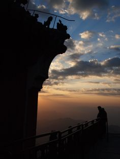 Sunset on Wudang Mountain - the birthplace of Tai Chi