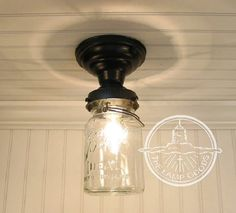 MASON JAR Light Rectangular Trio with New Quarts-Flush Mount Ceiling Fixture Rustic Farmhouse Glass Chandelier Lighting Track by LampGoods Ceiling Fan Light Kit, Lamp, Ceiling Fan With Light, Mason Jar Pendants, Mason Jar Chandelier, Jar Lights, Jar Chandelier, Jar Ceiling Light, Mounted Mason Jar