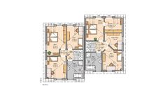 Kern-Haus Doppelhaushälfte Twin L Grundriss Dachgeschoss