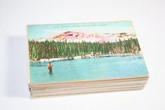 Wedding by the Lake! Vintage Lake themed Postcards - great for wedding guestbooks, save the dates, or sending mail.  Bursts of Creativity Etsy Shop - 100 for $70
