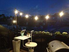 Inreda terrass och balkong - Lightning on terrace at night