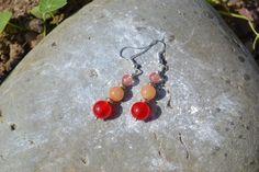 Boucles d'oreille en pierre de gemme avec monture en argent : Boucles d'oreille par instant-precieux
