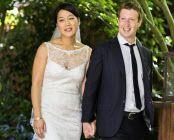 フェイスブックのザッカーバーグCEO(右)は19日、同窓だったプリシラ・チャンさんと結婚。フェイスブックで写真を公開した=ロイター
