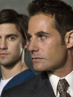 Adrian Pasdar and Milo Ventimiglia from Heroes (yeah... main reason I've watched this TV show 89287 times)