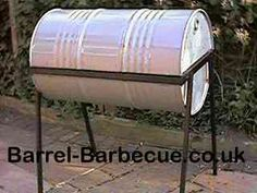 The Original Barrel Barbecue UK supplier of Barrel Barbecues, in stock now ! Barrel Grill, Barbecue Design, 55 Gallon, Backyard Sheds, Barbecues, Welding Projects, Bbq Grill, Grills, Drums