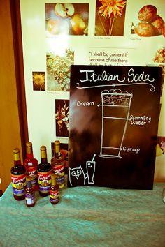 Italian Soda Bar --Ashley's sign was even better!  :)
