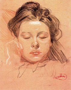 german-expressionists: Frantisek Kupka, Sleeping Face, 1902