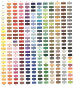 exquisite threads color chart - Gutermann Thread Color Chart