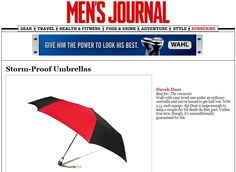 Davek in Men's Journal. Large enough to keep a couple dry