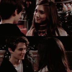 "#GirlMeetsWorld ""Girl Meets New Year"" (Riley and Farkle, the way they look at each other is cute)"
