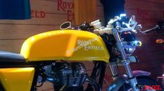 Royal Enfield Continental GT 535 Yellow - Review - http://burnyourfuel.com/60181/royal-enfield-continental-gt-review/