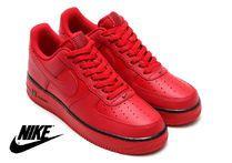 Nike(ナイキ) スニーカー NIKE★人気モデル_エアフォース1☆Air Force 1 MID 07' ★ 赤