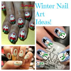 Winter Nail Art Ideas! from http://www.bakingbeauty.net/winter-nail-art/...Join the Nail Art Society - Discover the latest trends in Nail Art for only $19.95 a Month!