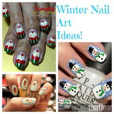 Winter Nail Art Ideas! Click thru for 10 more!