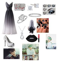 """""""Suga's prom date"""" by skylerlasiter on Polyvore featuring Dolce&Gabbana, Blue Nile and Lime Crime"""