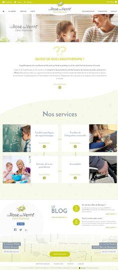 Refonte complète du site du cabinet d'ergothérapie La Rose des Vents. Site réalisé par StartUp, propulsé par SaytUp.  www.ergo-larosedesvents.fr