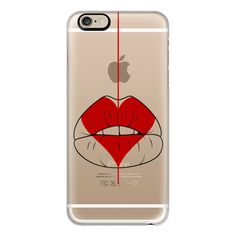 iPhone 6 Plus/6/5/5s/5c Case - Heart Geisha Red Lips (53 AUD) ❤ liked on Polyvore featuring accessories, tech accessories, iphone case, apple iphone cases, iphone cover case, red iphone case, slim iphone case and iphone cases