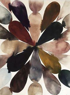 Lourdes Sanchez, Color Abstract #32 2014, watercolor on paper
