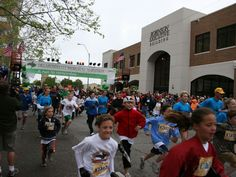 Oklahoma City Memorial Marathon - Kids Marathon start line! #OKC #RunToRemember