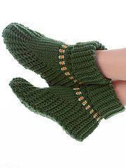 Ravelry: Slipper Boots pattern by Elsie M. Caddey