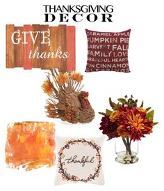 """""""Thanksgiving decor"""" by amy-mott on Polyvore featuring interior, interiors, interior design, home, home decor, interior decorating, Winward, Pier 1 Imports, Nearly Natural and Surya"""