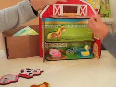 """Uma caixa de atividades para crianças entre os 3 e os 5 anos dedicada ao tema """"Os animais da Quinta"""". Uma forma de os ajudar a desenvolver a motricidade fina..."""