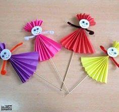 Prace plastyczne - Stylowi.pl - Odkrywaj, kolekcjonuj, kupuj Animal Crafts For Kids, Spring Crafts For Kids, Art Activities For Kids, Paper Crafts For Kids, Summer Crafts, Toddler Crafts, Craft Stick Crafts, Diy For Kids, Arts And Crafts