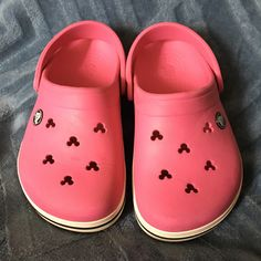 9d3ae28cbd Shop Kids  CROCS Pink size Water Shoes at a discounted price at Poshmark.  Description  Minnie Mouse cutouts on classic pink Crocs.