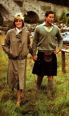 August 19, 1981: Prince Charles & Princess Diana honeymooning at Balmoral, Scotland.