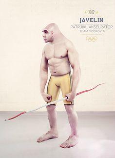 Surrealist London Olympics posters by Oli Kellett