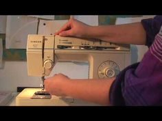 winding a bobbin and threading a sewing machine