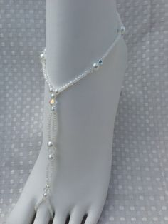 1 PAIR  Bridal Jewelry Barefoot Sandals Beach by SubtleExpressions, $29.99