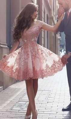 Find and buy the perfect prom dresses & homecoming dresses at LaLaMira. We offer a variety of off the shoulder lace homecoming dresses in dazzling sizes and styles. Pretty Prom Dresses, Lace Homecoming Dresses, Hoco Dresses, Cute Dresses, Evening Dresses, Formal Dresses, Dress Outfits, Graduation Dresses, Pink Dresses
