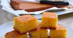 prajitura cu malai si lapte batut Romanian Desserts, Romanian Food, Romanian Recipes, Food Cakes, Something Sweet, Cornbread, Yummy Treats, Cake Recipes, Easy Meals