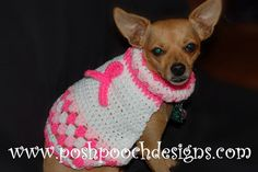 Instant Download Crochet Pattern Dog Sweater por poshpoochdesigns
