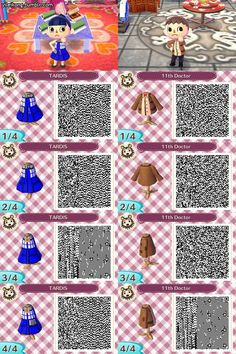 Animal Crossing New Leaf QR Code for Doctor Who!! I want the TARDIS one :D #animalcrossingnewleaf