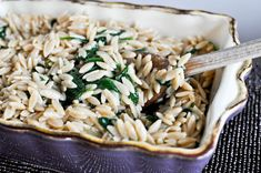 Three Cheese Orzo & Spinach