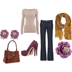 Purple Floral, created by #srbbrady on #polyvore. #fashion #style #Lifegate Pour La Victoire