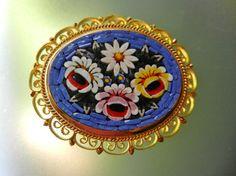 Italian Micro Mosaic antique Treasure of best by RAKcreations
