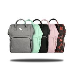Stanfer Diaper Bag Backpack with Stroller Straps Diaper Bag Backpack, Diaper Bags, Designer Backpacks, Strollers, Changing Pad, Jogging, Shoes, Black, Nappy Bags