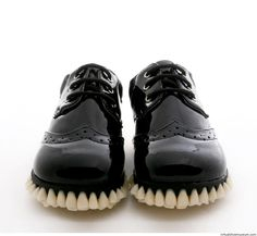 Custom Designer Shoes Get A Full Tooth Implant For Soles