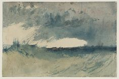 """Joseph Mallord William Turner (British, 1775 - 1851), """"Study of Sea,"""" c.1820-30. Watercolour on paper support, 143 x 217 mm . Courtesy of Tate: Accepted by the nation as part of the Turner Bequest 1856. Photo © Tate, London 2014."""