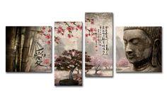 lH_Xl01_2018 Cuadro Paisaje con Buda y letras Japonesas