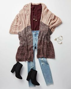 89f1cbeefd2 An open-front silhouette adds a sense of ease to our cable-knit poncho