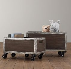 Industrial Rolling Storage Crate