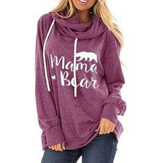 Hoodie Sweatshirts, Pullover Hoodie, Sweater Hoodie, Mama Bear Sweatshirt, Graphic Sweatshirt, Casual Chic, Casual Shoes, Pulls, Types Of Sleeves